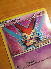 EX Prerelease STAFF Pokemon VICTINI Card NOBLE VICTORIES Set 43/101 Black White