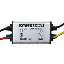 New Waterproof 24V(14-40V) To 12V 5A 60W DC/DC Converter Regulator