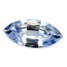 Certified Natural Ceylon Blue Sapphire 0.51 ct IF Clarity Flawless Marquise Gem