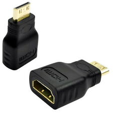 Mini HDMI (Type C) Male to HDMI (Type A) Female Adapter V1.4 Connector HDTV - UK