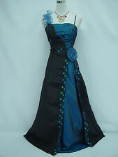 Cherlone Black Ballgown Wedding Evening Bridesmaid Formal Full Length Dress 12