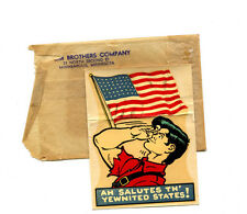 """1950's Al Capp - Lil'Abner """"Yewnited States!."""" Water soluable decal Bloom Bros."""