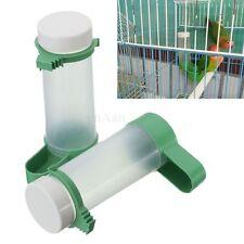 2x Bird Pet Drinker Feeder Waterer Clip for Aviary Budgie Cockatiel Lovebirds