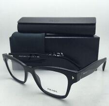 New PRADA Eyeglasses VPR 10S 1AB-1O1 51-17 140 Black Frames w/ Clear lenses