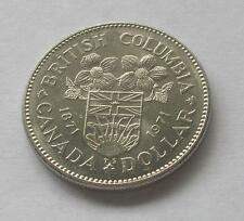 1871 - 1971 BRITISH COLUMBIA Centennial CANADA NICKEL ONE DOLLAR $1 COIN