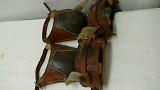 Leather Horse Jump Boots Protectors Hunter Buckles Bakersfield CA Vintage