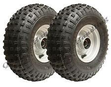 2 -145/70-6 - knobby ATV tyre & rim Quad trailer wheels with ball bearings 150kg