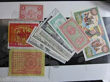 """WOW - Super Cool Item - COLLECTION OF 10 DIFFERENT BANK NOTES FROM HELL """"CHINA"""""""