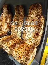 TO FIT A FORD TRANSIT  VAN, SEAT COVERS GOLD CHEETAH FAUX FUR