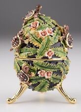 Faberge Music Egg with Turtle  by Keren Kopal trinket box Austrian crystals