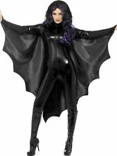 Black Vampire Bat Wings With High Collar Halloween Fancy Dress Costume  - 23133