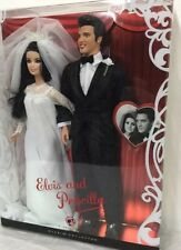 Elvis and Priscilla Barbie Ken Doll Giftset Pink Label Collection Wedding Day