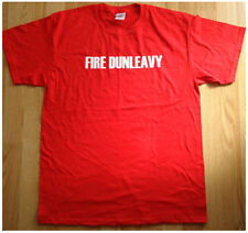CLIPPER NATION, FIRE DUNLEAVY - T SHIRT- RED - L-  NEW CLIPPER'S NBA COLLECTIBLE