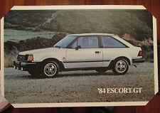 """Ford Escort GT 1984 Dealer Showroom Promotional Poster 21 3/4"""" x 13 1/4"""""""