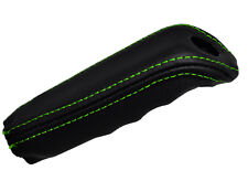 GREEN STITCH FITS BMW 5 SERIES E34 88-96 HANDBRAKE HANDLE LEATHER COVER ONLY
