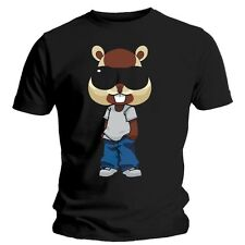 Chipmunk Mens T Shirt Official Cartoon Style Black Size X-Large