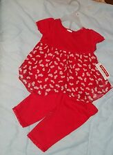 NEW FISHER PRICE  OUTFIT WITH LEGGINGS  INFANT  GIRLS 24M ~~~hearts.............