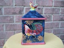 ROOSTER CHICKEN COOKIE Candy JAR Certified International SUSAN WINGET Country