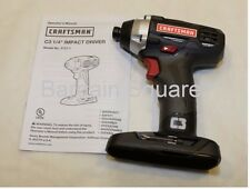 "NEW CRAFTSMAN C3 19.2v VOLT 1/4"" COMPACT CORDLESS IMPACT DRIVER w/ LIGHT 57"