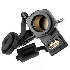 Prise allume cigare moto 12V + USB 5V + cable 150cm pour moto scooter