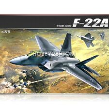 Academy 1/48 F-22A Air Dominance Fighter Raptor Plastic Model Kit #12212