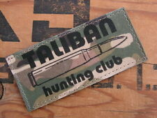 Patch Velcro US - TALIBAN HUNTING CLUB - multicam / TAN serval airsoft lybie