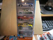 HOT WHEELS ☆ HOT TRUCKS ☆ 5 PACK 2017 ☆ NEW ☆ '49 FORD F1,'83 CHEVY SILVERADO