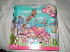 2008 Barbie DOLL GIFT SET *Beach Party* Doll & Bicycle PUPPY DOG HELMET