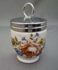 Royal Worcester England Pink Roses Porcelain 1 Egg Coddler