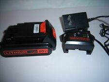 1 SET New BLACK & DECKER 20v CHARGER and Battery For Cordless Tools 20V