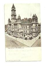 Used Postcard Post Officd 1905 Postman Stamp 3 Time Baltimore MD. Brooklyn NY.