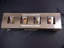 Set 4 boxed Duck Dynasty character shot glasses Redneck Approved