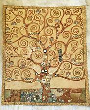 Wandteppich Gobelin aus Italy Gustav Klimt L´Albero della Vita GLITZER 70x80 cm