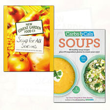 Soup For All Seasons, Carbs & Cals Soups 80 Healthy Soup Recipes 2 Books Set NEW