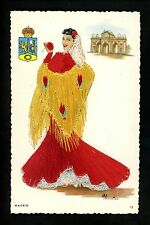 Embroidered clothing postcard Artist Elsi Gumier Spain Madrid woman #12