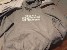 "Frank Ocean ""Super Rich Kids"" Grey Graphic Hoodie (Free Shipping) S,M,L,XL"