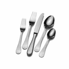 Wallace Continental Hammered 65-Piece Flatware Set, Service for 12, NIB