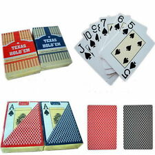 High Quality PLASTIC Waterproof Poker Size Playing Cards NEW