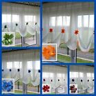 Beautiful Ecru Voile Net Curtain with Various Colours Piping