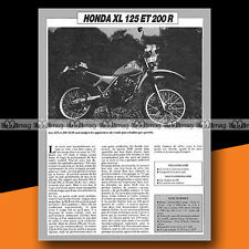 ★ HONDA XL 125 R & 200 XLR ★ 1984 Essai Moto / Original Road Test #a660