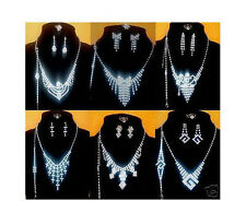 New Lots Fashion 12Sets Mixed Crystal Rhinestone Necklaces