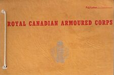 Royal Canadian Armoured Corps - Range event record - notes pad.
