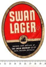 Vintage Beer Label - Swan Brewery - Australia - Swan Lager