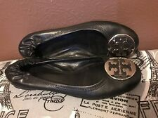 Tory Burch Leather Black Ballet Flats size 10