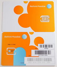 AT&T 4G LTE POSTPAID/PREPAID FACTORY NANO SIM CARD FOR IPHONE 5/IPADMI.SKU 4098A