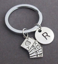 Poker Keychain,Royal Flush Key Chain,Deck of Playing Cards,Game Keyring