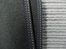 Original Lengenfelder Fußmatten passend für BMW 3er F30 F31 F80 M3 + BLAU WEISS