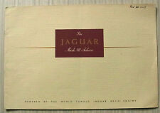 JAGUAR MARK VII SALOON XK120 Engine LF Car Sales Brochure c1950-51