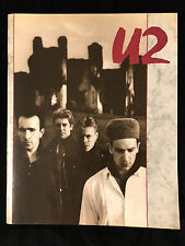 U2-UNFORGETTABLE FIRE TOUR-CONCERT PROGRAM-1985-WITH TICKET STUB and SET LIST