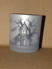 YANKEE CANDLE FLICKERING HAUNTED HOUSE VOTIVE CANDLE HOLDER RETIRED VHTF